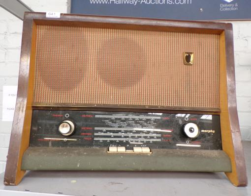 Murphy radio - long wave, medium, short wave and VHF W/O