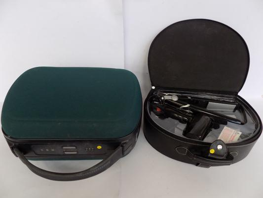 Samsonite vanity case (lock code 274) & travel hairdryer  + straighteners in case
