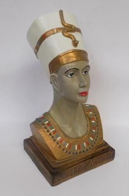 "Bust of Egyptian figure approx. 16"" tall"