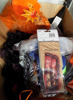 Large box of new Halloween items