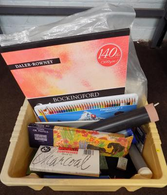 Box of artists materials