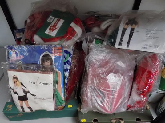 Approx. 40 ladies brand new costumes incl. Christmas, Halloween etc.