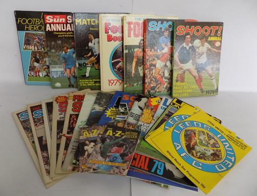Selection of vintage Football programmes and annuals
