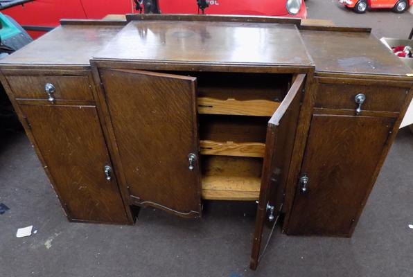 Vintage sideboard with inner trays