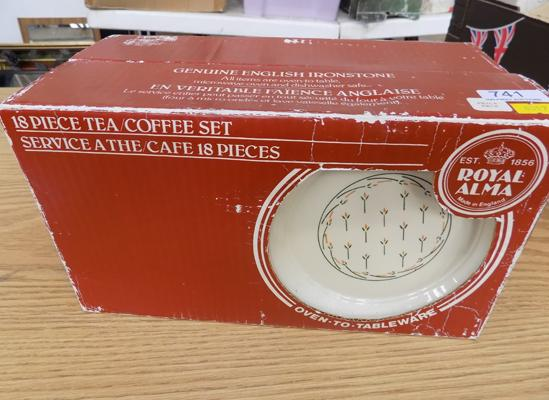 Royal Alma genuine England ironstone tea & coffee set-18 pieces