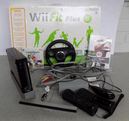 Wii console with accessories + Wii Fit Plus - W/O