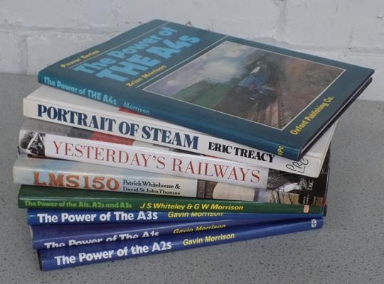 Selection of railway hardback books