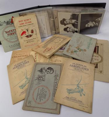 Cigarette card albums & others