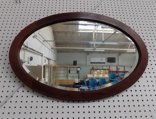 "Oval bevel mirror - 29 1/2"" x 19 1/2"" approx."