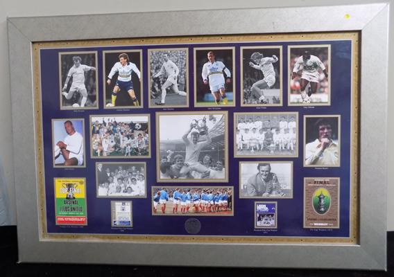 Leeds Utd wall montage over the years