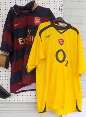 Two old Arsenal football shirts