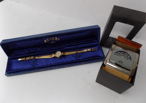 A Rotary gold plated ladies cocktail watch and Softech gentleman's wristwatch - boxed