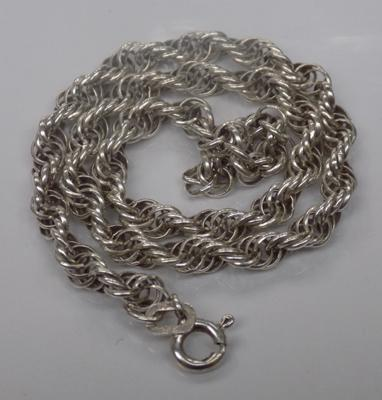 A sterling silver rope twist bracelet; approximate length 10 inches - with Birmingham import mark