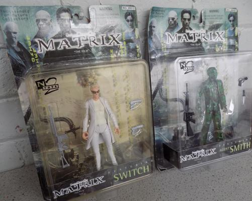 Two Matrix figures - packaged as new