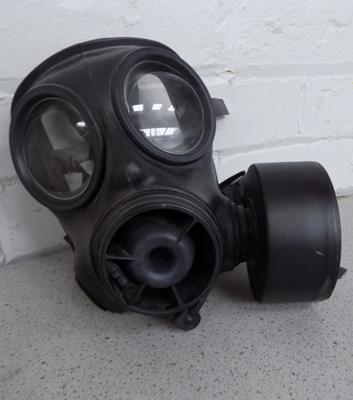 A military style gas mask