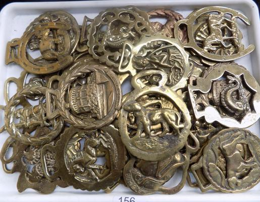 A collection of vintage horse brasses