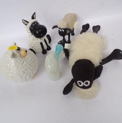 A collection of sheep; including Shaun