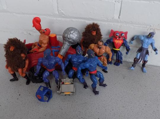 A collection of vintage 'He Man and The Masters of The Universe' action figures and accessories