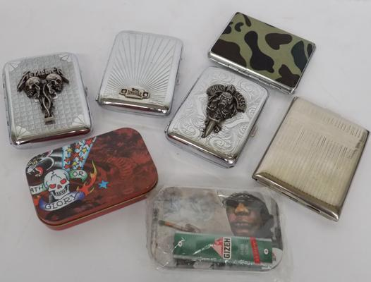A selection of cigarette cases