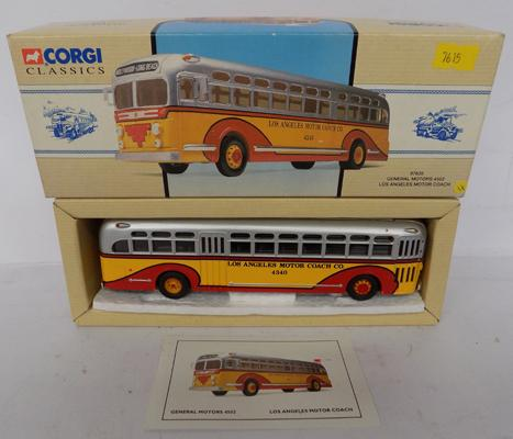 A Corgi Die cast Classics, Los Angeles motor coach -packaged as new