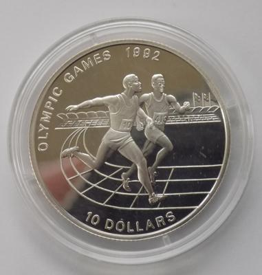 A ten dollar silver proof coin - 1992 Olympic Games