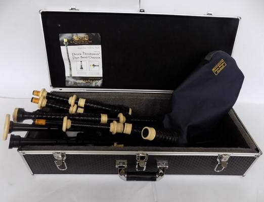 A set of R. G. Hardie bagpipes and case