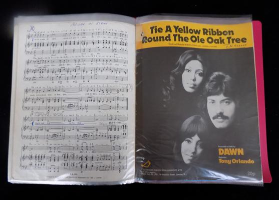 A collection of Sheet music - 1970's
