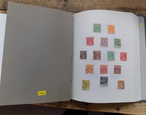 Album containing Commonwealth and world stamps