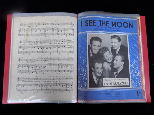 A collection of sheet music - vocal groups