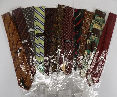 Mixed ties including Christain Dior, Burberry, Liberty and Hugo Boss