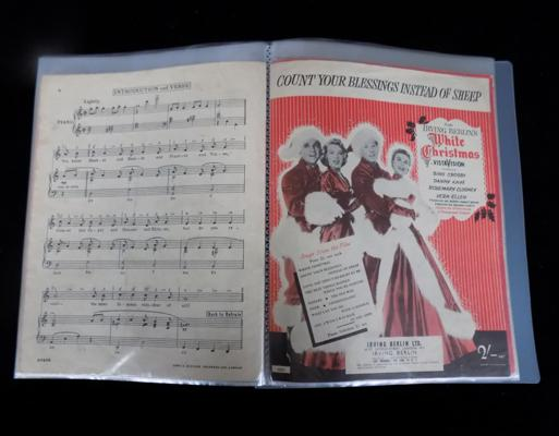 A collection of sheet music - Christmas themed