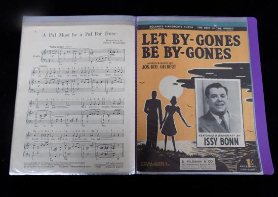 A collection of sheet music - comedians