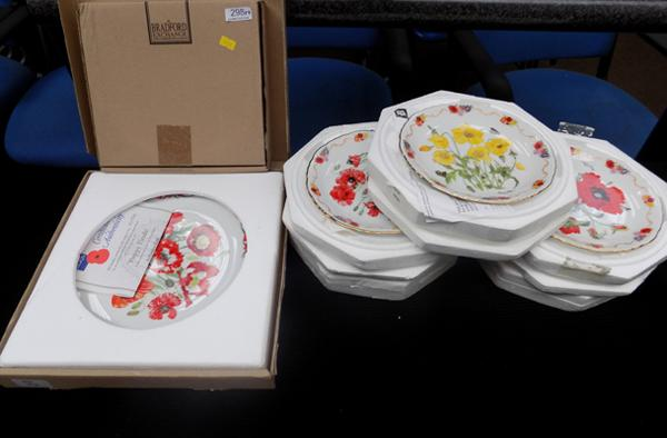 Six Royal British Legion plates and one larger plate