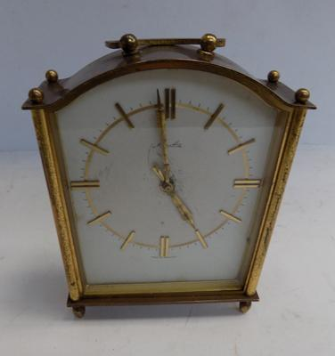 A brass cased chiming carriage clock - made in Germany