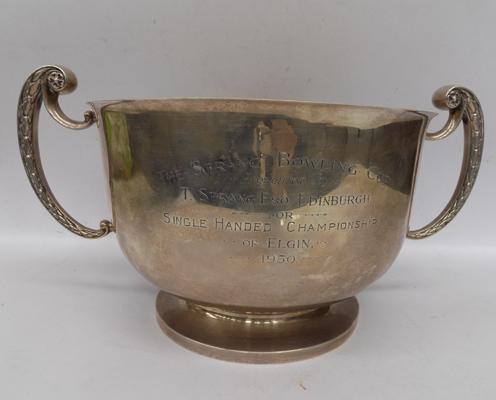Antique sterling silver Mappin and Webb, presentation cup; hallmarked 1918 London - approximate weight 1.2 kg