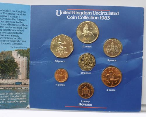 A 1983 uncirculated coin set
