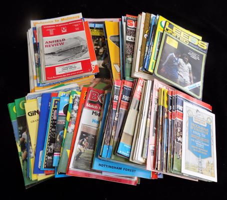 Approximately 190 football programs; including 1960's Internationals, Wolves, Leeds Utd - and hack reviews