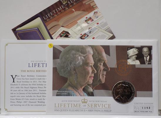 A five pound coin, First Day Cover; dated 2007 - issue No. 1383