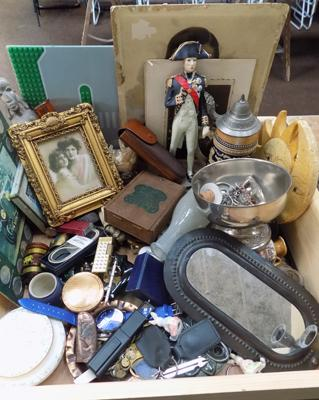 A selection of mixed items and vintage collectables; including lighters, watches and antique cork screws
