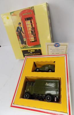 A Corgi die cast, GPO telephone/vehicle set; limited edition with certificate - boxed