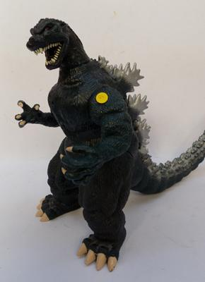 A vintage 1995 Toho Co. Trendmaster Godzilla; approximate height ten inches