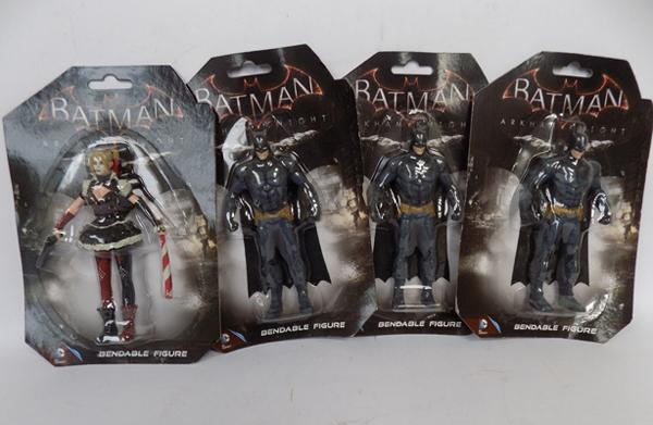 Four Batman figures; packaged as new