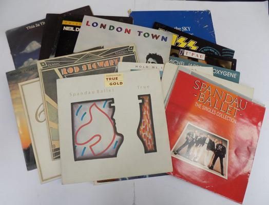 A selection of Vinyl LP's; including Wings, The Moody Blues, Crosby Stills and Nash, Kiss and Spandau Ballet
