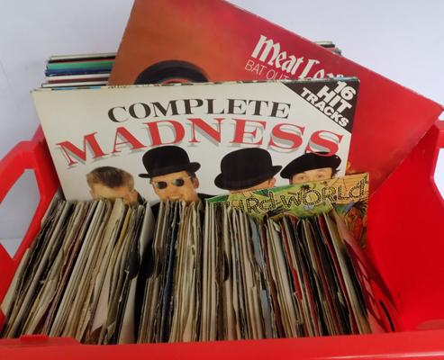 A box of LP vinyl records; including Soul, Motown, Pop and Rock - various artists