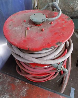 3x fire hose reels for upcycling or decoration