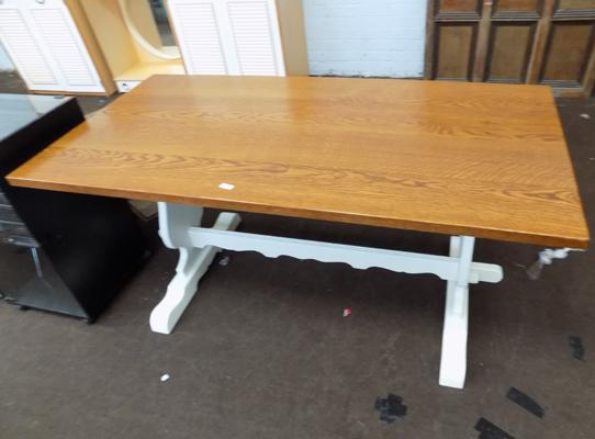 Rectory solid oak table