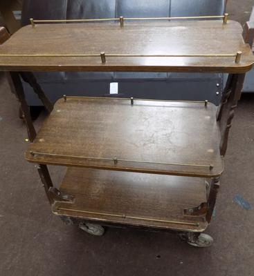 Vintage library trolley