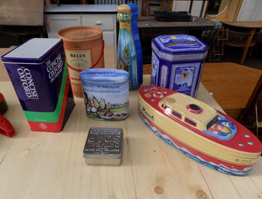 Selection of vintage tins