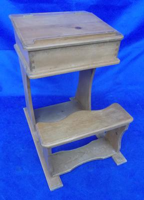 Vintage child's school desk with bench seat