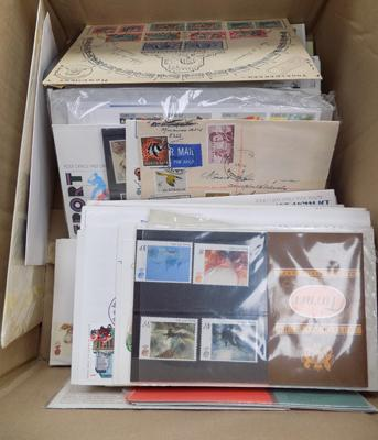 A collection of First Day Covers and presentation packs